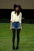 beige thrift blouse