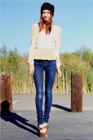 blue Cheap Monday jeans