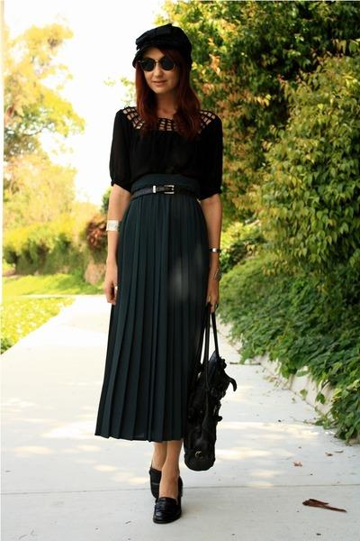 blue vintage skirt