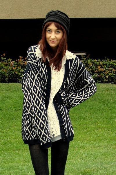 black Goodwill sweater