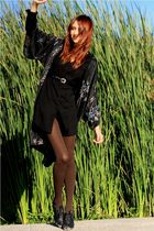 black thrift dress - black thrift jacket