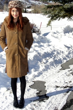 vintage coat - vintage hat - Steve Madden shoes