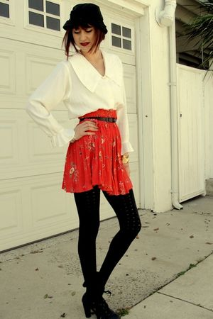orange Salvation Army skirt