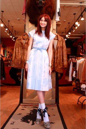 white vintage dress