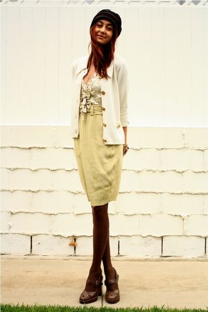 beige thrift skirt