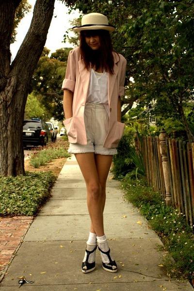 pink thrift blazer