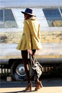 Chartreuse-free-people-coat-navy-thrifted-dress-dark-brown-frye-shoes