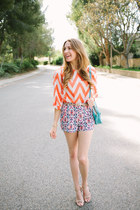 chevron orange francescas collections shirt