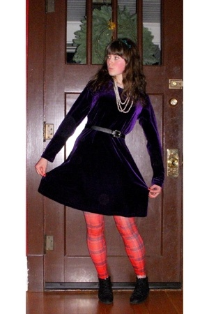 dress - tights - - belt