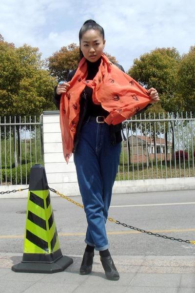 Zara jacket - scarf - jeans - shoes
