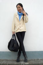 American Apparel coat - American Apparel jeans - shoes