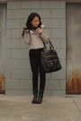 Black-alexander-mcqueen-scarf-silver-jacket-black-h-m-jeans-gray-shoes-g