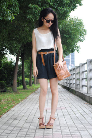 vest - shorts - H&amp;M belt - bag