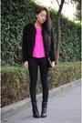 Black-coat-black-h-m-jeans-boots