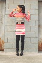 H&M dress - belt - H&M jeans - boots