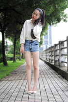 vintage shirt - shorts - shoes