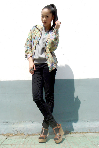 jacket - sweater - American Apparel jeans - shoes