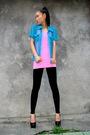 Vintage-shirt-h-m-top-black-american-apparel-leggings-shoes