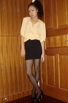 vintage shirt - H&M skirt - American Apparel tights