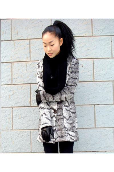 black H&M scarf - coat - H&M jeans