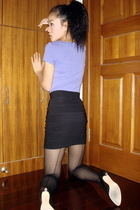 American Apparel t-shirt - H&M skirt - American Apparel tights
