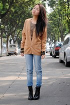 Zara jeans - bronze vintage cardigan
