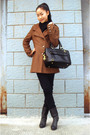 Brown-bcbg-coat-black-h-m-jeans-shoes
