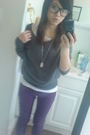 Purple-max-rave-jeans-gray-old-navy-top-white