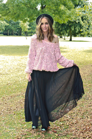 Topshop skirt - jane with louise hat - American Apparel jumper