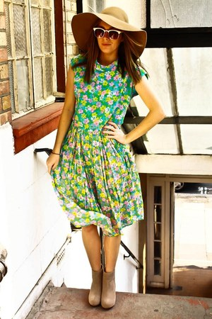 janewithlouise dress - asos boots - H&amp;M hat