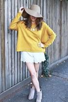 H&M top - asos boots - H&M hat - Topshop shorts