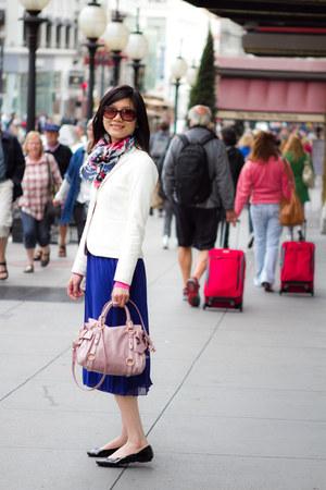 Miu Miu bag - banana republic jacket - Mango scarf - asos skirt