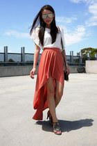 Minelli sandals - supre skirt - Shakuhachi blouse