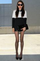black suede Zara heels