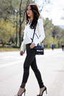 White-helmut-lang-jacket-black-proenza-schouler-bag