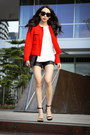 Red-tweed-zara-jacket-black-patent-yves-sain-laurent-bag