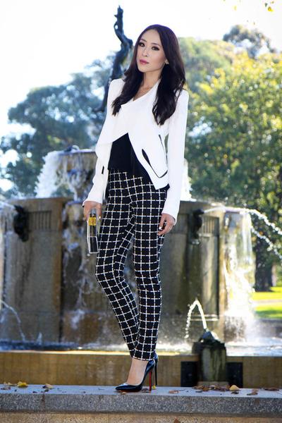 black checkered asos pants - white Helmut Lang blazer