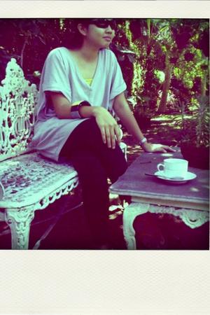 Kate Moss for Topshop blouse - leggings - Zara shoes - Mango accessories - ck ac