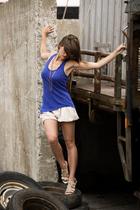 Zara top - Zara shorts - Zara shoes - wwwuraniumws necklace