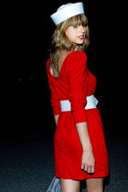 red American Apparel dress - white Rachel F belt