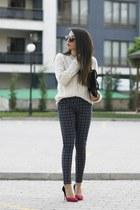 Stradivarius sweater - romwe pants