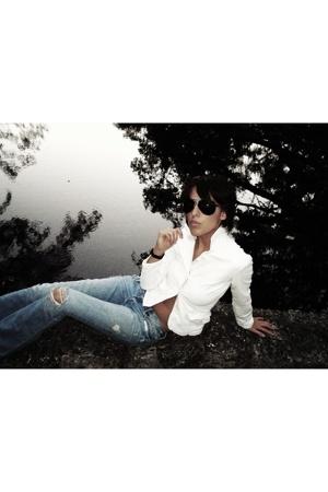 jacket - glasses - jeans