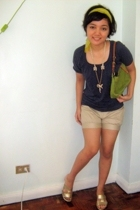 human top - human shorts - Marks and Spencers shoes - forever 21 necklace - Mark