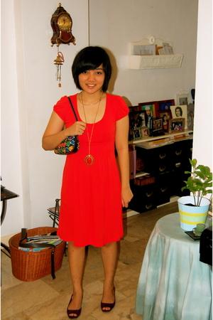 Mango dress - necklace - shoes - dooney & burke accessories - necklace
