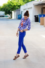 Blue-mossimo-jeans-blue-gingham-aeropostale-shirt