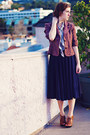 Navy-jcrew-dress-maroon-tweed-kohls-blazer-light-purple-paisley-random-brand