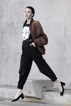 black suede court Ebay shoes - black beanie h&m divided hat