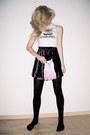 Black-fishnet-house-of-holland-tights-white-turtleneck-topshop-top