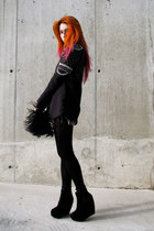 orange hair Directions accessories - black embellished H&M Trend blazer