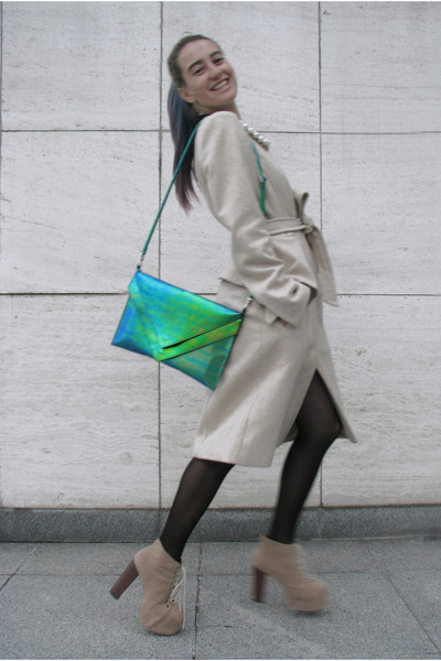 beige asymmetrical H&M skirt - beige peplum H&M Trend coat